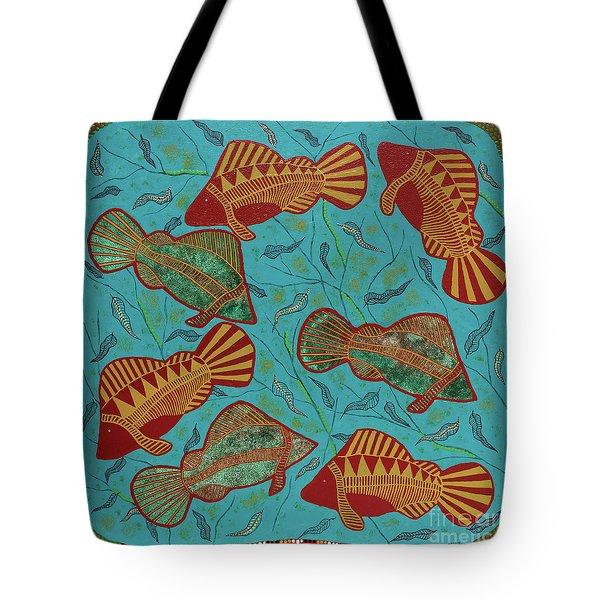 Large Barramundi Swimming  Tote Bag