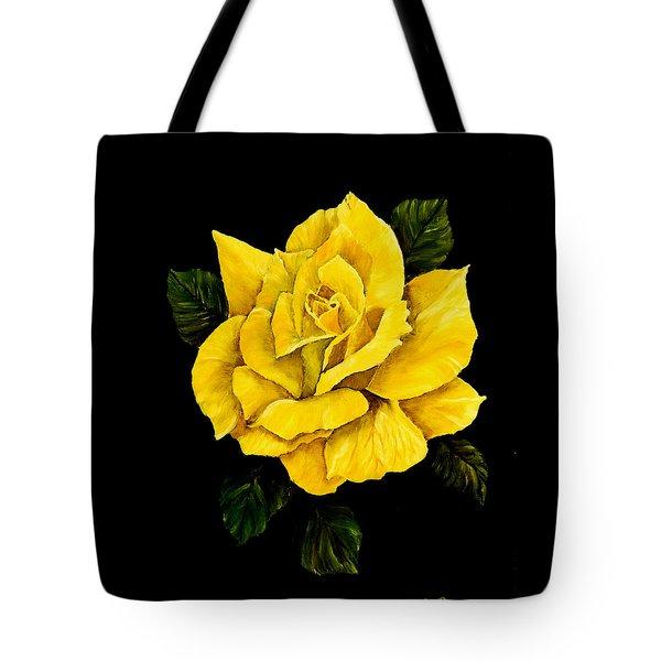 Large Yellow Rose Tote Bag