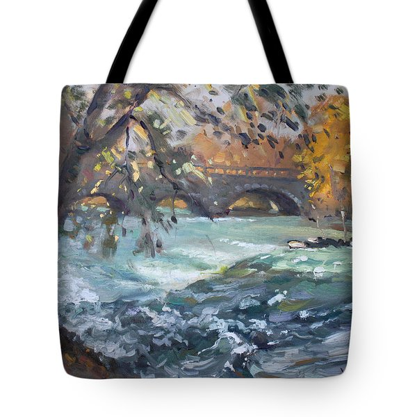 Late Afternoon By Niagara River Tote Bag
