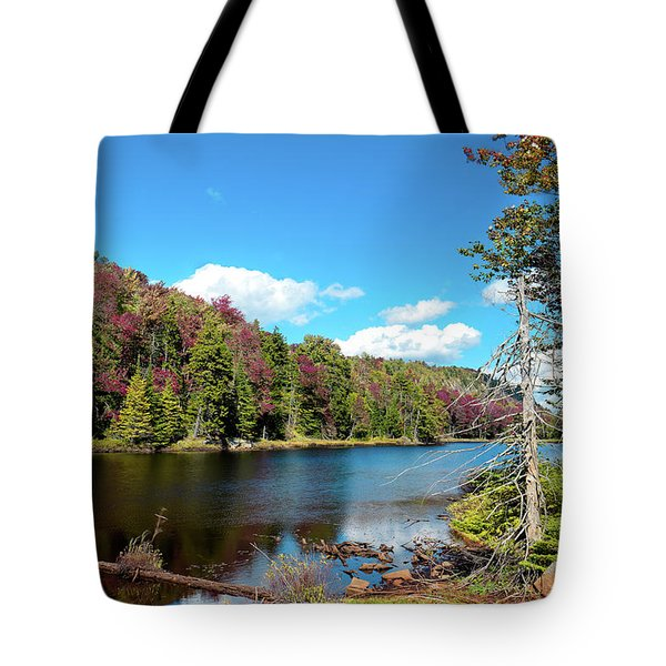Late September On Bald Mountain Pond Tote Bag