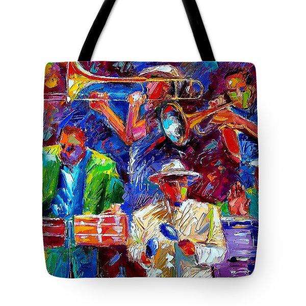Latin Jazz Tote Bag by Debra Hurd