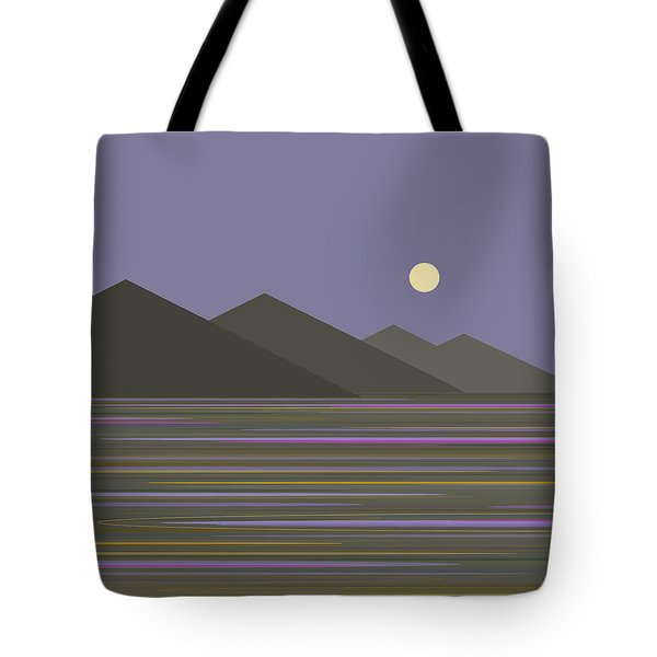 Tote Bag featuring the digital art Lavender Sky  Reflections by Val Arie