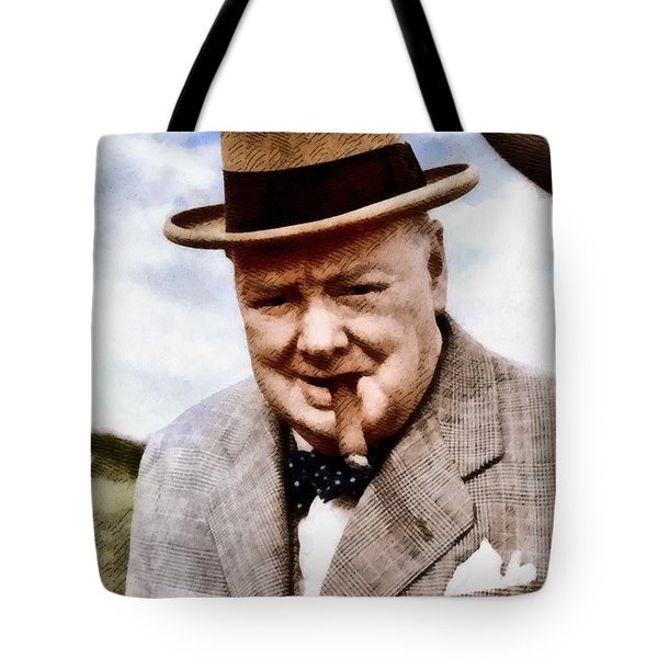 Leaders Of Wwii - Winston Churchill Tote Bag
