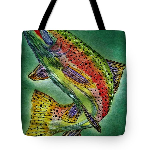 Leaping Trout Tote Bag