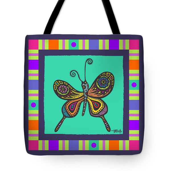 Tote Bag featuring the drawing Learning To Fly by Tanielle Childers