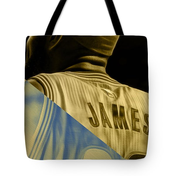 Lebron James Collection Tote Bag by Marvin Blaine