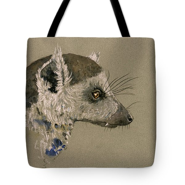 Lemur Head Study Tote Bag