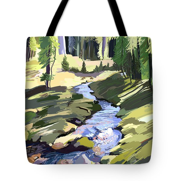 Lena Peak Stream Tote Bag