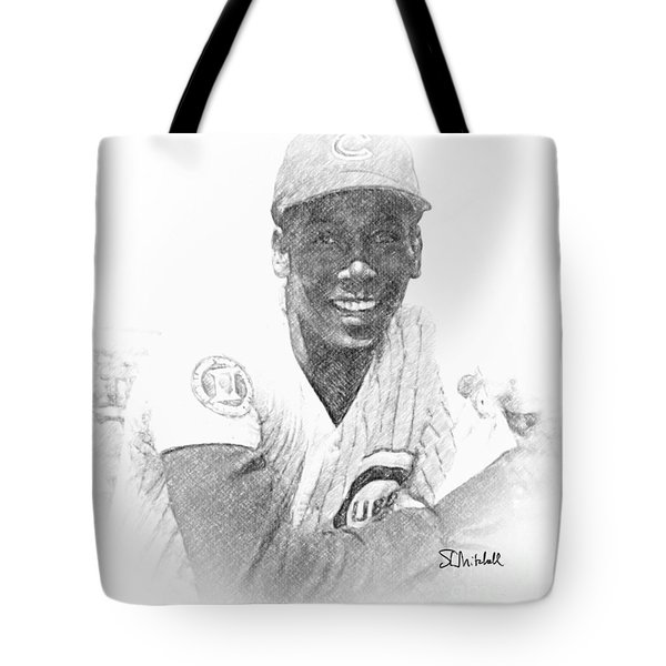 Ernie Banks Tote Bag