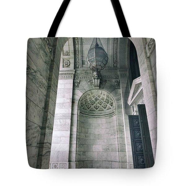 Tote Bag featuring the photograph Library Portico by Jessica Jenney