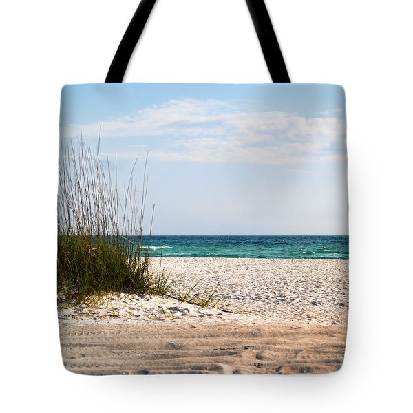 Tote Bag featuring the photograph Lido Beach by Athala Carole Bruckner