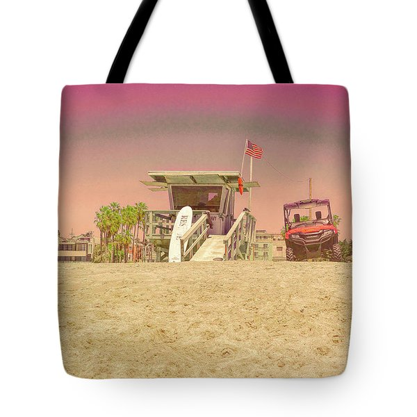 Lifeguard Tower 3 Tote Bag