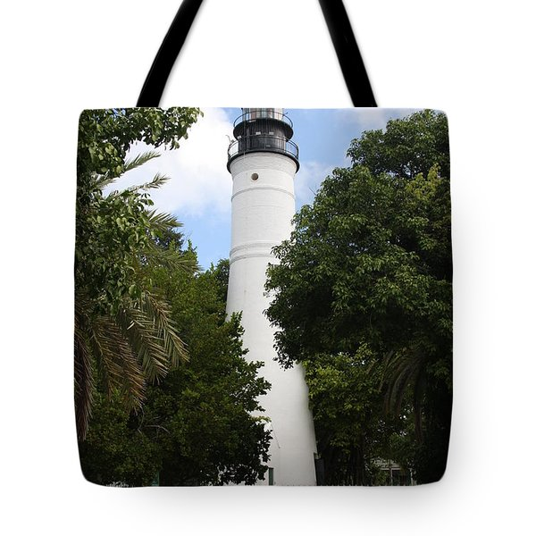 Tote Bag featuring the photograph Lighthouse - Key West by Christiane Schulze Art And Photography