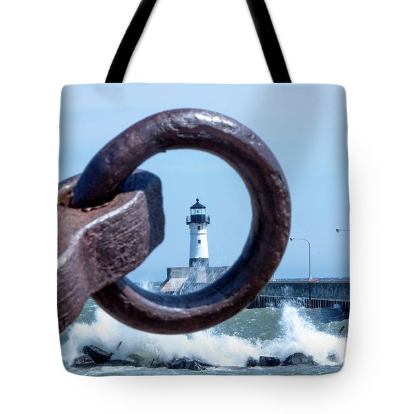 Lighthouse Thru The Hole Tote Bag
