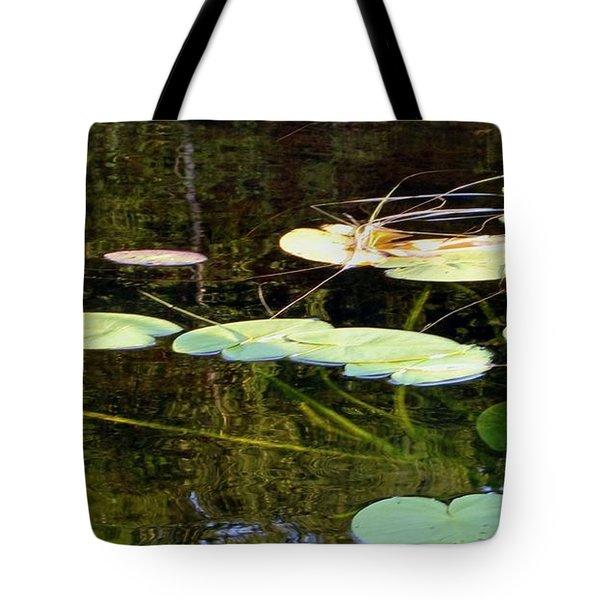 Lily Pads On The Lake Tote Bag