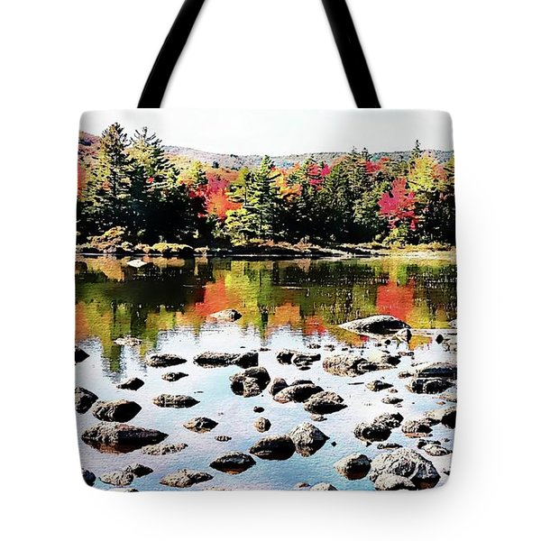 Tote Bag featuring the photograph Lily Pond, Kancamagus Highway - New Hampshire  by Joseph Hendrix