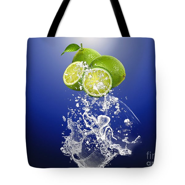 Lime Splash Tote Bag by Marvin Blaine