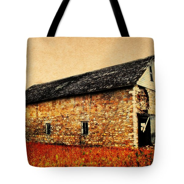 Lime Stone Barn Tote Bag by Julie Hamilton