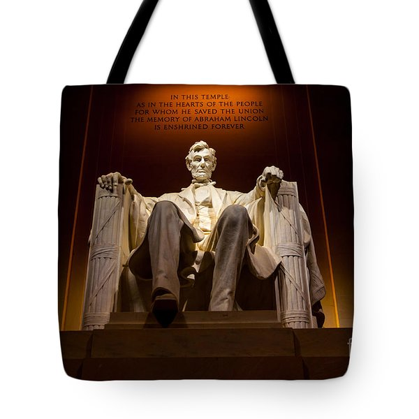 Lincoln Memorial At Night - Washington D.c. Tote Bag