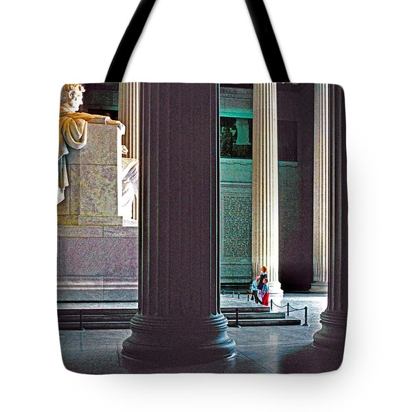 Lincoln Memorial Tote Bag by Dennis Cox