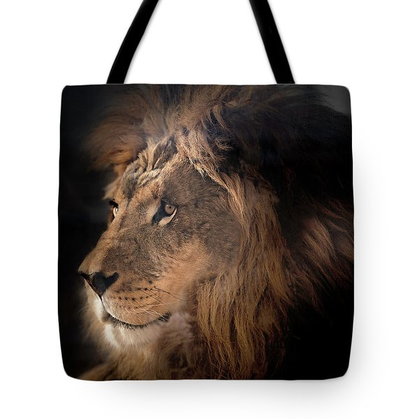 Tote Bag featuring the photograph Lion King Of The Jungle by James Sage