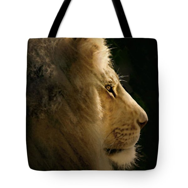 Lion Of Judah II Tote Bag by Sharon Foster