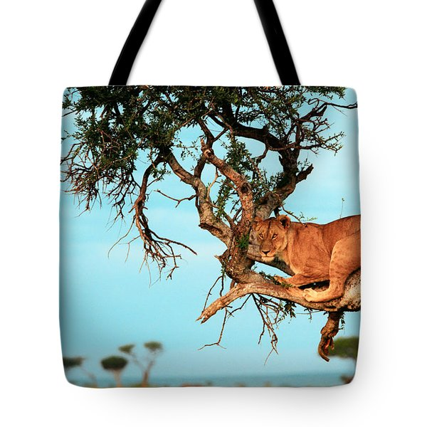Lioness In Africa Tote Bag