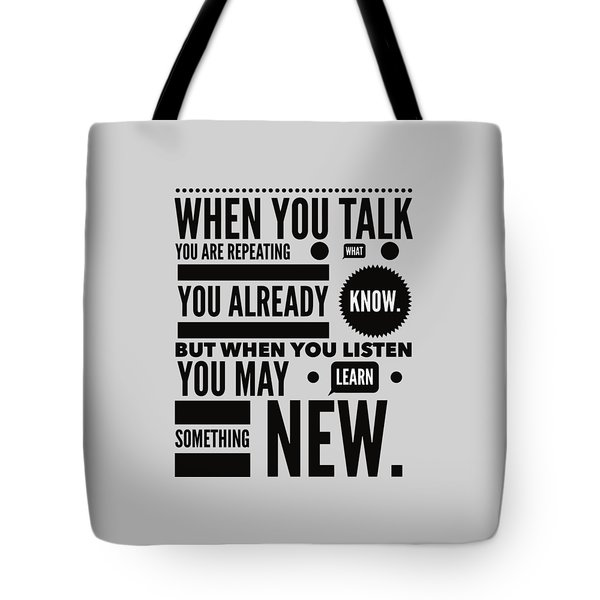 Listen To Learn Tote Bag