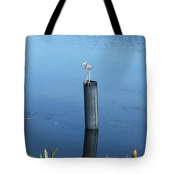 Tote Bag featuring the photograph Little Blue Heron by Kay Gilley