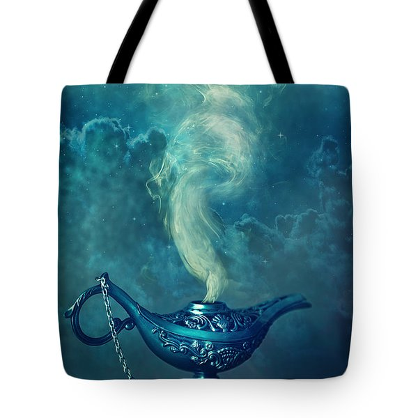 Little Genie Lamp Tote Bag by Sandra Cunningham
