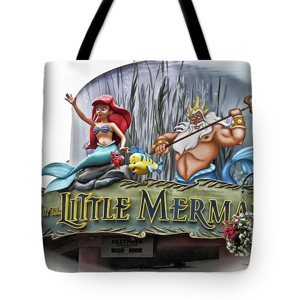 Little Mermaid Signage Mp Tote Bag by Thomas Woolworth