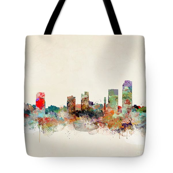 Tote Bag featuring the painting Little Rock Arkansas by Bri B