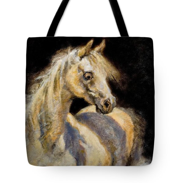 Little White Mare Tote Bag