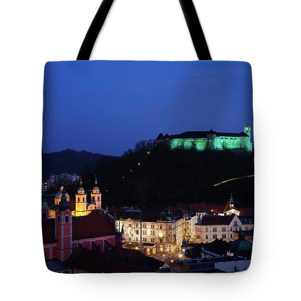 Ljubljana Castle Tote Bag
