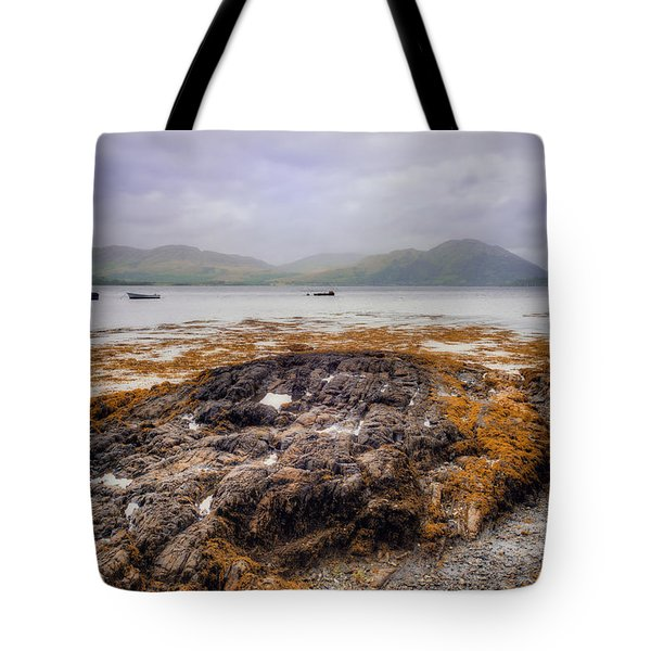 Tote Bag featuring the photograph Loch Creran Coastline by Ray Devlin