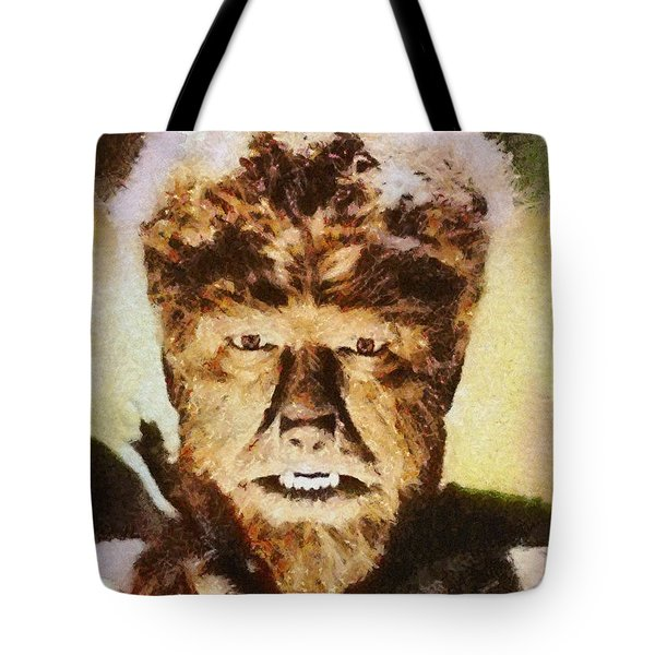 Lon Chaney Jr, As The Wolfman Tote Bag