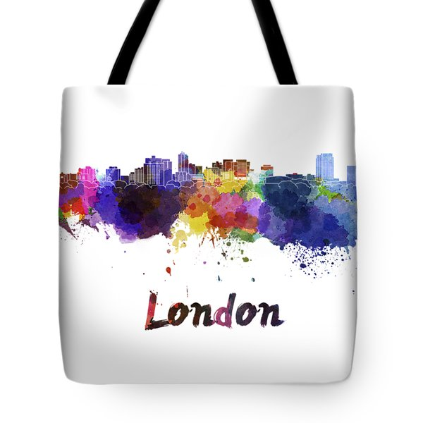 London Skyline In Watercolor Tote Bag