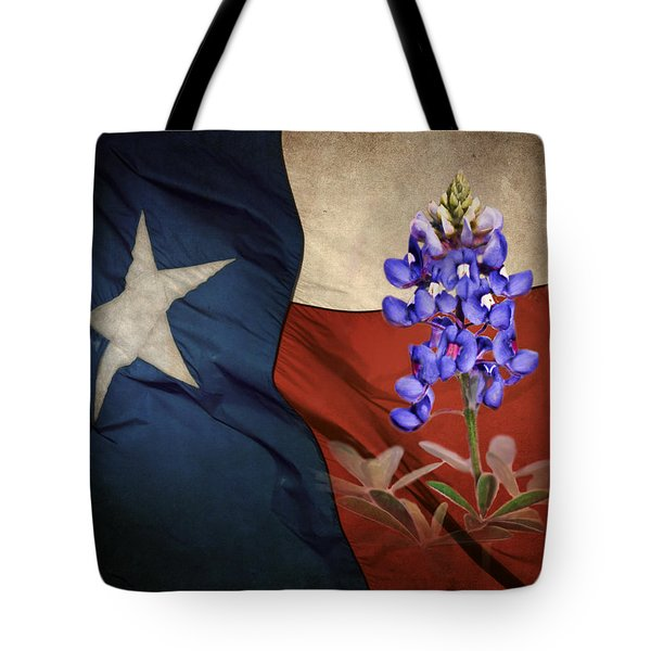 Lone Star Bluebonnet Tote Bag
