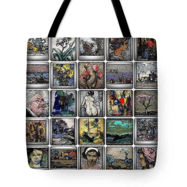 Tote Bag featuring the mixed media Panorama Digital Graphics 1 by Pemaro