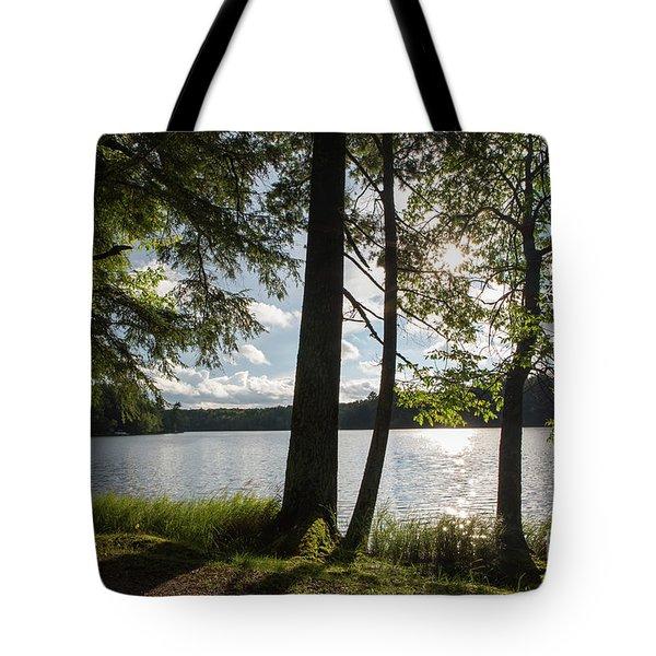 Long Lake Afternoon Tote Bag