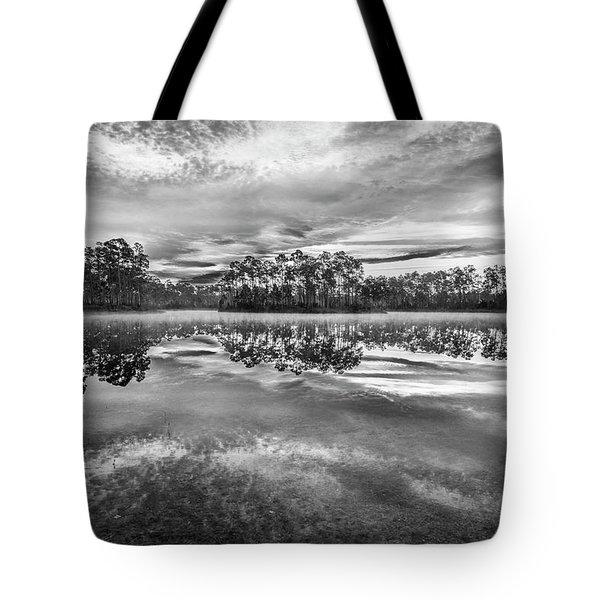 Long Pine Bw Tote Bag by Jon Glaser