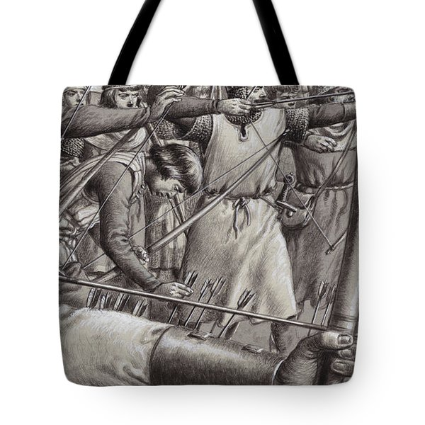 Longbowmen At The Battle Of Falkirk Tote Bag