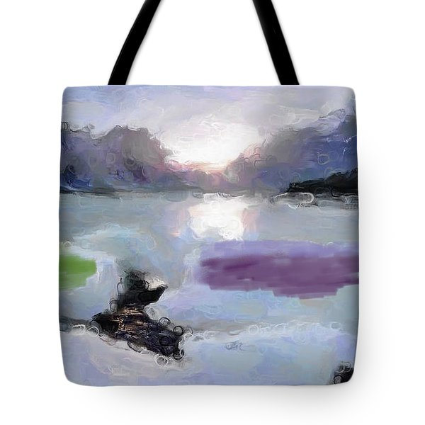 Looking Out Into The Bay Tote Bag
