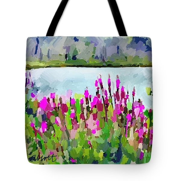 Loosestrife Blooming At Sleepy Hollow Pond Tote Bag