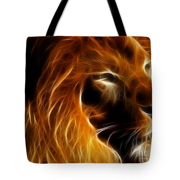 Lord Of The Jungle Tote Bag by Wingsdomain Art and Photography