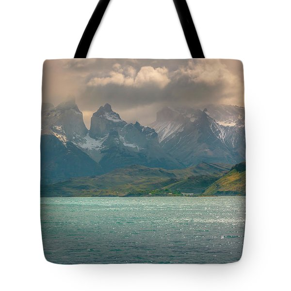 Tote Bag featuring the photograph Los Cuernos  by Andrew Matwijec