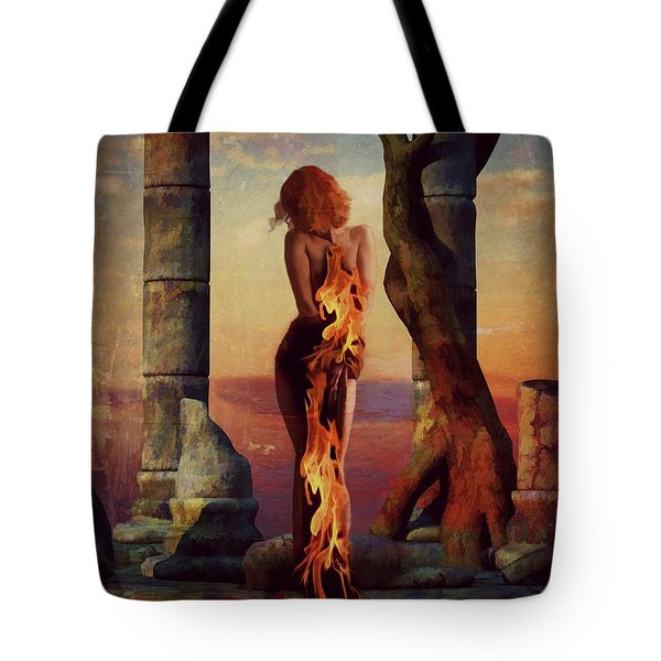 Tote Bag featuring the digital art Love Hurts  by Riana Van Staden
