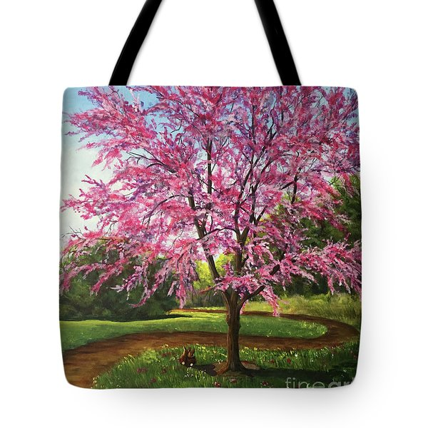 Tote Bag featuring the painting Love Is In The Air by Nancy Cupp