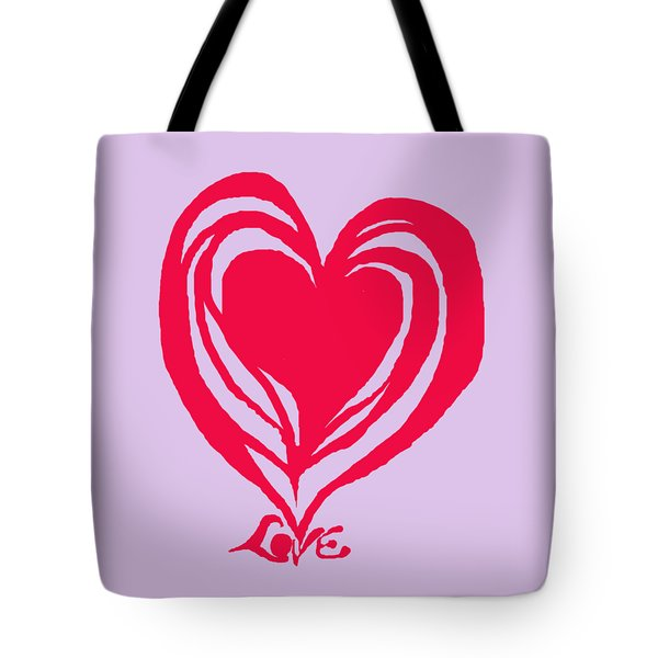 Love In Red Tote Bag by Mary Armstrong