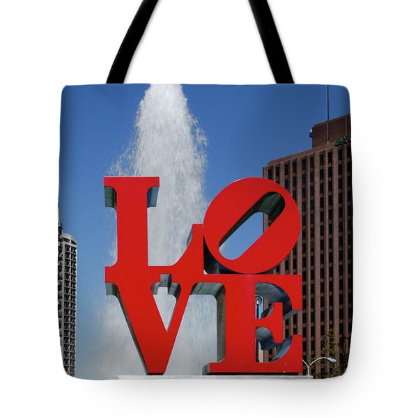 Tote Bag featuring the photograph Love - Philadelphia by Bill Cannon